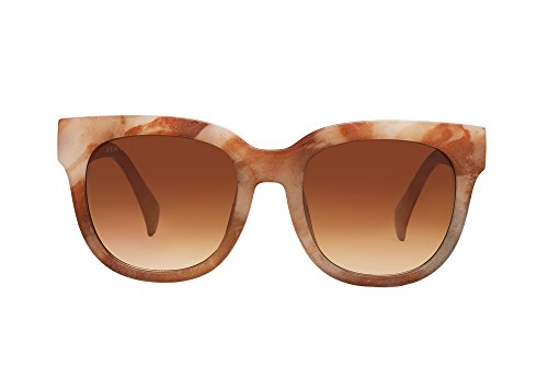 PERVERSE sunglasses Roman Square Sunglasses (White/Brown, Brown) by PERVERSE sunglasses