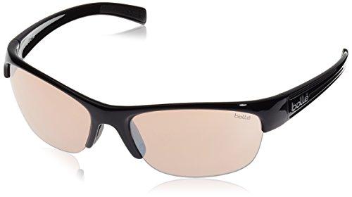 Bolle Chase Sunglasses (Photo V3 Golf , Shiny Black) (V3 Photo Golf Lens)