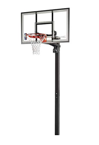 Spalding NBA In-Ground Basketball System - 54' Aluminum Trim Glass Backboard