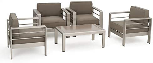 Christopher Knight Home Crested Bay Aluminum Patio Chat Set
