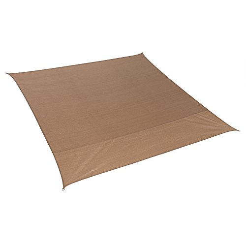 Coolaroo  California Sun Shade Shade Sail Square 10ft Walnut