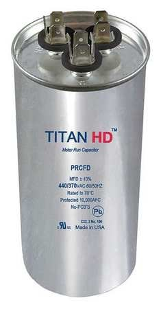 Motor Dual Run Cap, 50/7.5 MFD, 440V, Round by TITAN HD