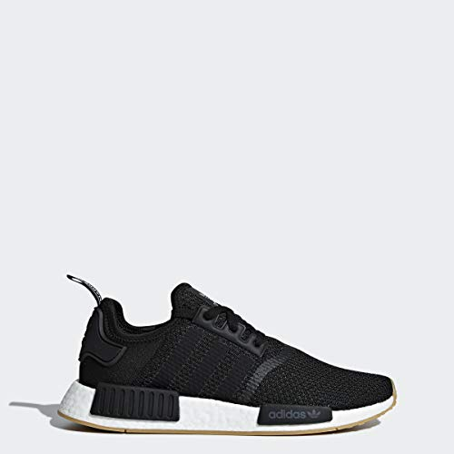 adidas Originals Men's NMD_R1 Running Shoe, Black/Black/Gum, 8 M US (Watch Adidas Men)