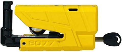 Granit 8077 Detecto X Alarm Disc lock DL 13.5mm ABUS Bike Diebstahlschutz f/ür Motorrad gelb