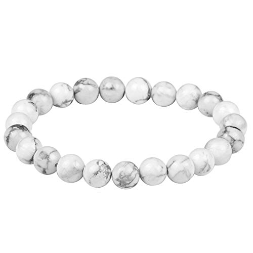 - DFYtr511po Luxury Natural White Pine Women's Beaded Fashion Simple Elastic Bracelet Jewelry Birthday Gift White