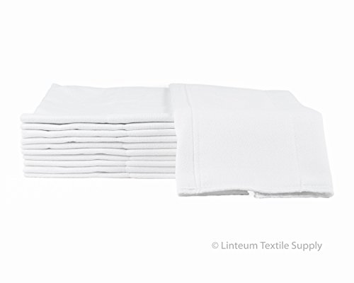 Linteum Textile (12-Pack, 12x16 in.) Baby Diapers Reusable Washable Birdseye Prefold Burp Cloth 2-Ply