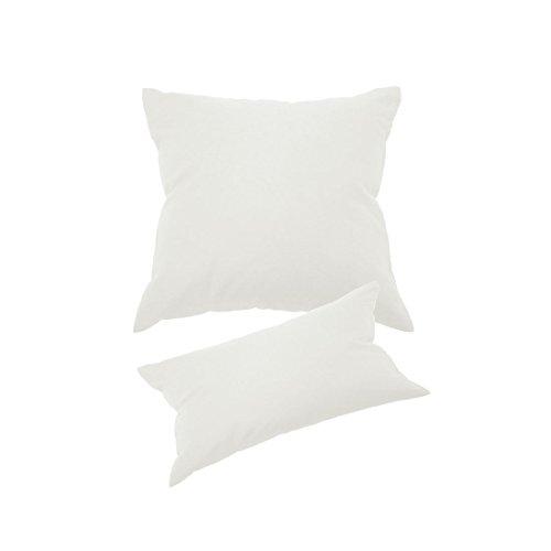 Qool24 Kissenbezug 100% Baumwolle mit Hotelverschluss Kissenhülle Kissenbezüge 25 Farben und 20 Größen Weiß 80x80 cm