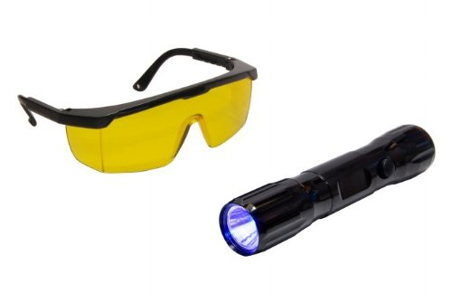 Tracer Dual-Max Dual Head Flashlight with Blue/White Light (TRATP-9355) Category: UV Dyes and Oils -