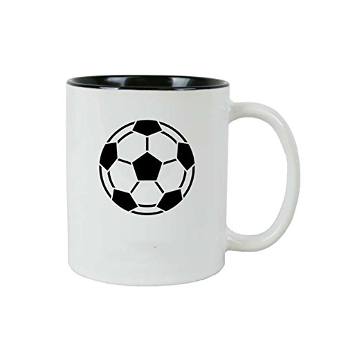 Personalizado de balón de fútbol 11 oz de cerámica blanca de ...