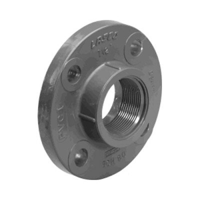 LASCO 1/2inch Schedule 80 Gray PVC Threaded 150 lb. Companion Flange