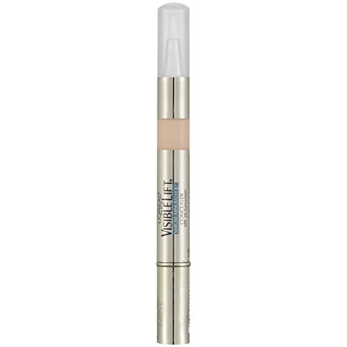 L'Oréal Paris Makeup Visible Lift Serum Absolute Concealer, illuminates and conceals for smoother, brighter, even skin, light hydrating formula won't settle into lines or wrinkles, Fair, 0.05 fl. oz.