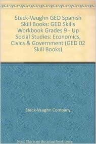 steck vaughn ged spanish skill books ged skills workbook grades 9