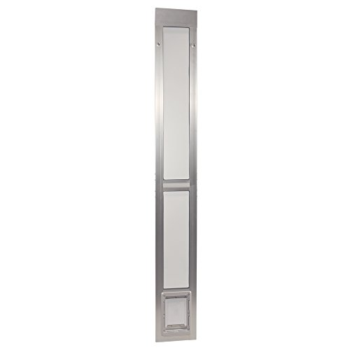 "Ideal Pet Products Aluminum Modular Pet Patio Door, Small, 5"" x 7"" Flap Size, Mill (Silver)"
