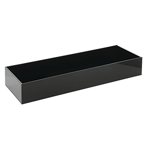 Crock For Cold Foods Black Acrylic Cold Serving System Tray - 20'' L x 7'' W x 3'' D by Hubert