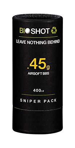 BioShot .45g 400 Round Sniper Pack Competición Grado Grado Biodegradable 6mm Airsoft BBS para todas las pistolas Airsoft