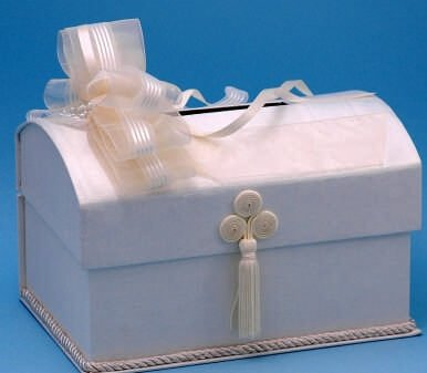 Beverly Clark Unity Candles - RaeBella Weddings & Events New York Simply Elegant Wedding Money Box/Card Box Ivory