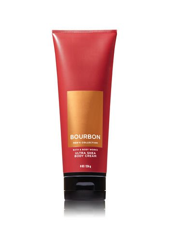 Bath & Body Works Bourbon Men's Ultra Shea Body Cream 8 oz by Bath & Body Works
