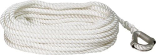 - SeaSense Three-Strand Twisted 100% Nylon Anchor Line, 3/8-Inch X 150-Foot