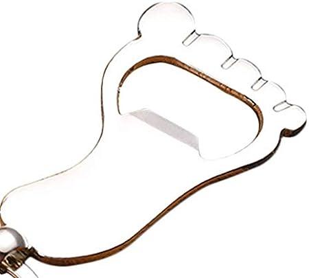 Elenxs Llavero Unisex pie en Forma de sacacorchos de la Botella Pies abridor de Metal Colgante Llavero Clave Titular de Regalos