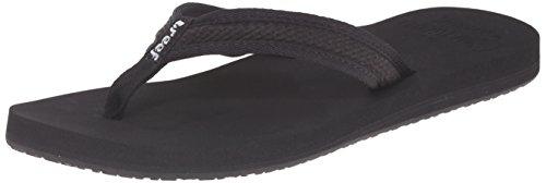 Reef Women's Reef Braided Cushion Flip Flop Sandal,Black,5 M (Womens Braided Cushion)