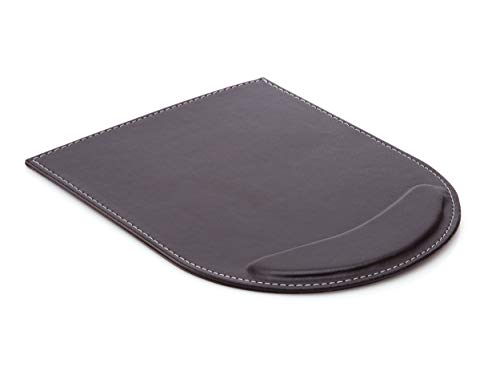 KINGFOM Leather Gaming Mouse Pad/Mat with Wrist Rest Support, Non Slip Mousepad - Large (Brown)