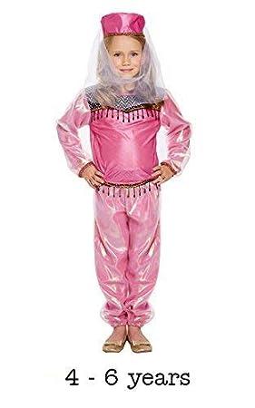 Disfraz infantil Bollywood Niña Pequeño 4-6 AÑOS: Amazon.es ...
