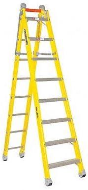 Louisville escalera fibra de vidrio combinación paso a recto escalera, 375-pound deber calificación, tipo IAA, amarillo: Amazon.es: Bricolaje y herramientas