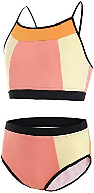 AS ROSE RICH Girls Bathing Suits 7-16 - 2 Piece Swimsuits for Teen Girls - Summer Beach Sports Swimsuits