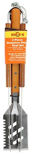 Mr Bar B Q 02295XNST 3-Piece Stainless Steel Tool Set