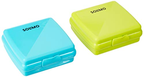 Amazon Brand – Solimo Plastic Sandwich/Snack Box Set, 2 pieces, Green and Teal) Price & Reviews