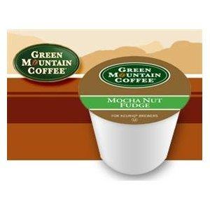 Green Mountain Mocha Nut Fudge Flavored Coffee 1 Box of 24 K-Cups