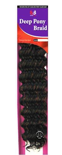 Synthetic Braiding Hair: Bobbi Boss Deep Pony Braid Color: 1B