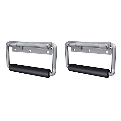 Rubber Handle Grip (Product Name: TCH Hardware 2 Pack Spring Loaded Zinc Steel Surface Mount Handle with Padded Grip - Case Chest Cabinet Box)