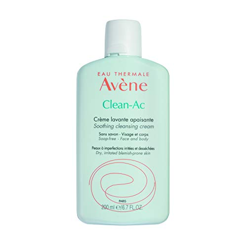 Eau Thermale Avene Clean-Ac Soothing Cleansing Cream, 6.7 Oz