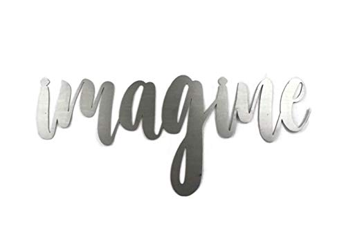 Raw Steel Unpainted Word Art - imagine (Art Custom Word)