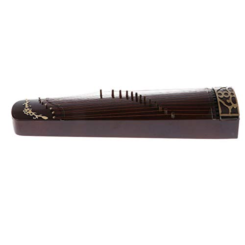 (NATFUR 25cm Wooden Guzheng Chinese Zither Plucked Instrument with Box and Stand)