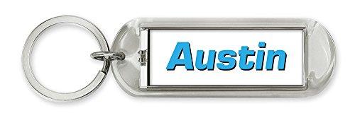 Dimension 9 Personalized Solar Flashing Keychain - Austin (10119) (Gift Baskets Austin)