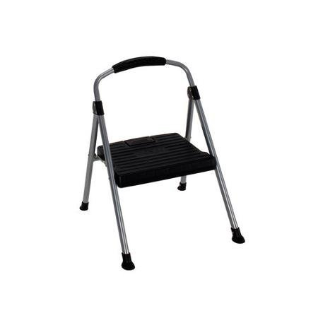 Cosco Steel Step Stool, 1 Step, 225lb weight capacity, Easy to use (1-Step)