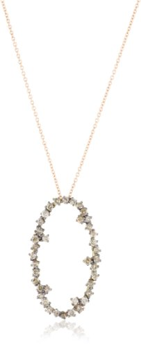 Kalan by Suzanne Kalan Starburst Oval Necklace