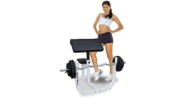 Amazon.com: deltech Fitness Preacher Curl Bench: Sports ...