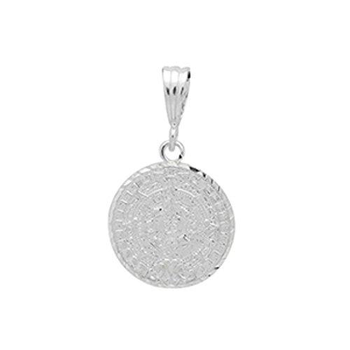 - Blue Apple Co. Aztec Calendar Pendant925 Sterling Silver Diamond CutCharm 19mm Long