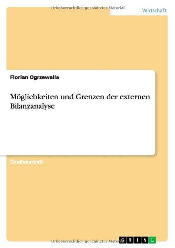 Download Möglichkeiten und Grenzen der externen Bilanzanalyse (German Edition) pdf