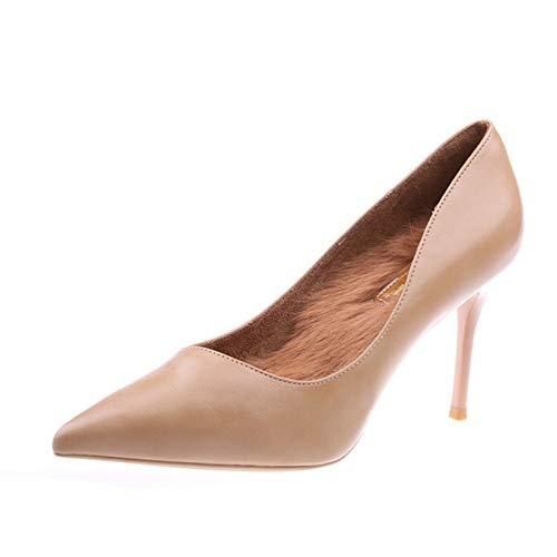HOESCZS Orange Rot High Heels weiblich 2019 neues Temperament Temperament Temperament Spitze flachen Mund Stiletto Damenschuhe einzelne Schuhe 343d88