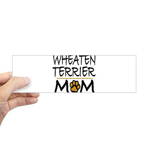 "CafePress Wheaten Terrier Mom Bumper Sticker 10""x3"" Rectangle Bumper Sticker Car Decal"