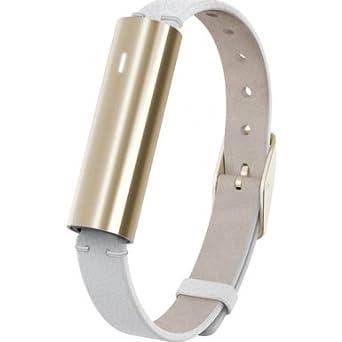 Misfit Ray - AktivitÄtstracker - mit weißem Lederarmband - Bluetooth - gold