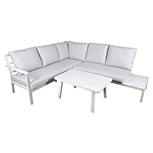Dellonda Kyoto 3-Piece Outdoor Corner Sofa Set