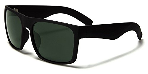 Black Gren Lens Black Square Frame Men'S Fashion - West 49 Sunglasses