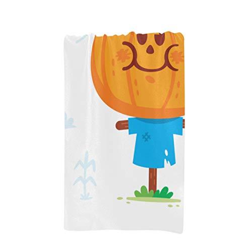 (XDCGG Kids Bath Towels Halloween Clipart Cute Sweet Scarecrow Pumpkin Custom Microfiber Large Printing 32 X 64 Inches Bath Towels)