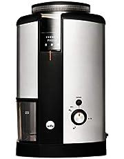 Wilfa SVART NYMALT kaffekvarn - bönbehållare med en kapacitet på 250gr, 160 watt, lätt att rengöra, rostfri design