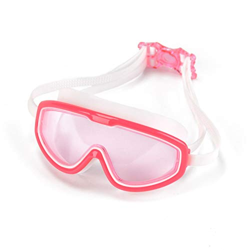 Peacoco Kids Wide Swim Goggles, Swimming Goggles for Kids Soft Big Silicone Frame No Leak and Comfortable Anti Fog Swimming Goggles for Girls Boys